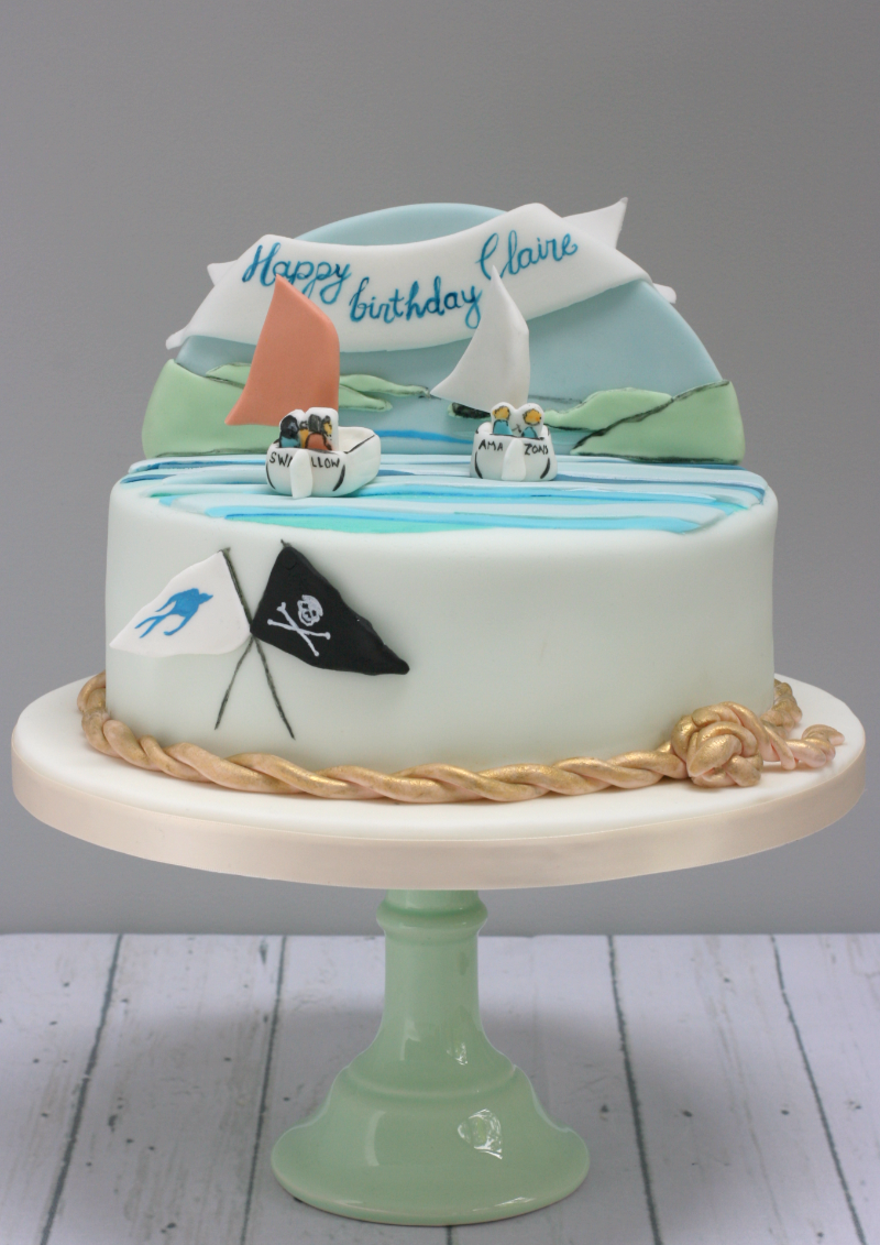 Swallows and Amazons bespoke birthday cake