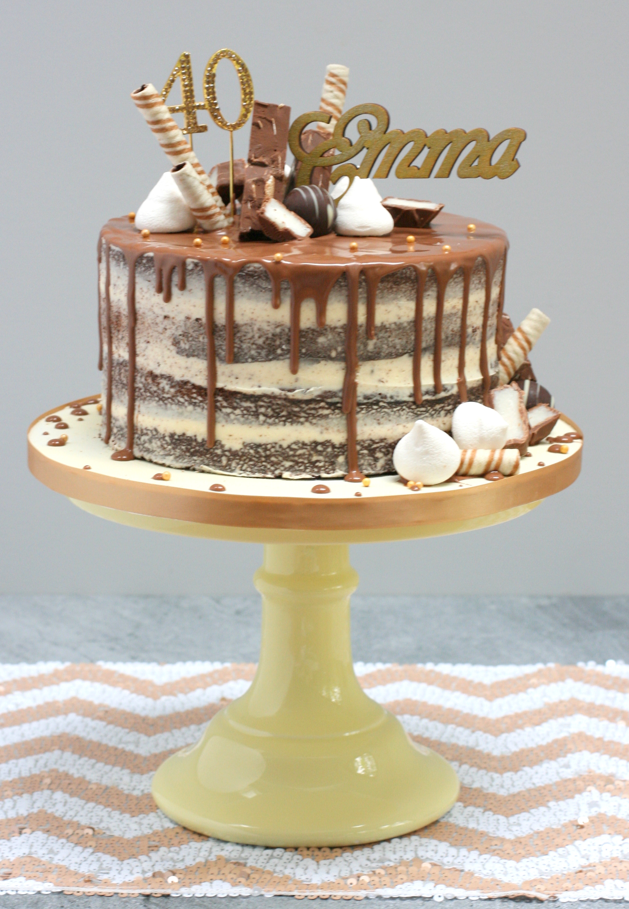 Chocolate layer drip cake