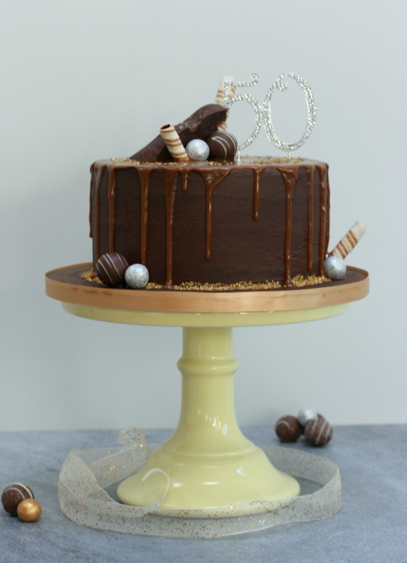 Chocolate & salted caramel layer drip cake