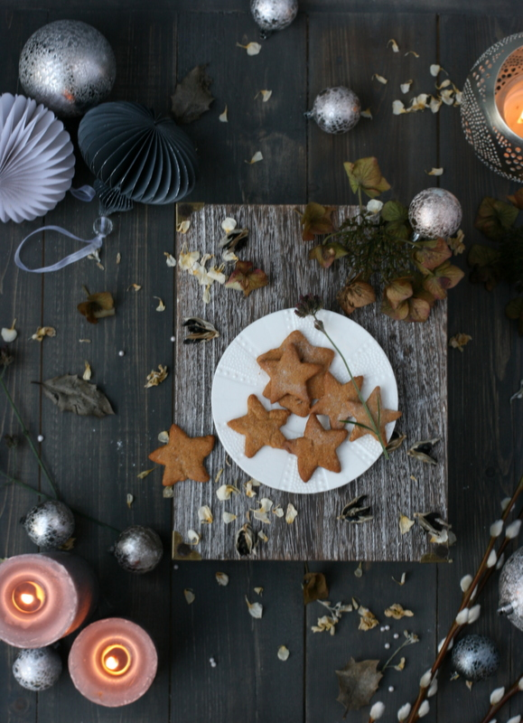 Food styled gingerbread biscuit photo