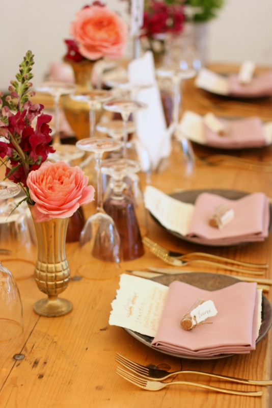 Wedding tablescape at beautiful tipi wedding in Surrey