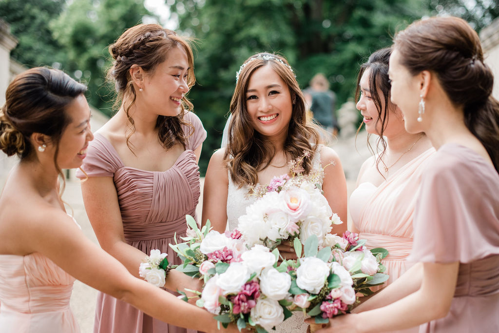 Bridal party at Chiswick House, London | Sugar Plum Bakes