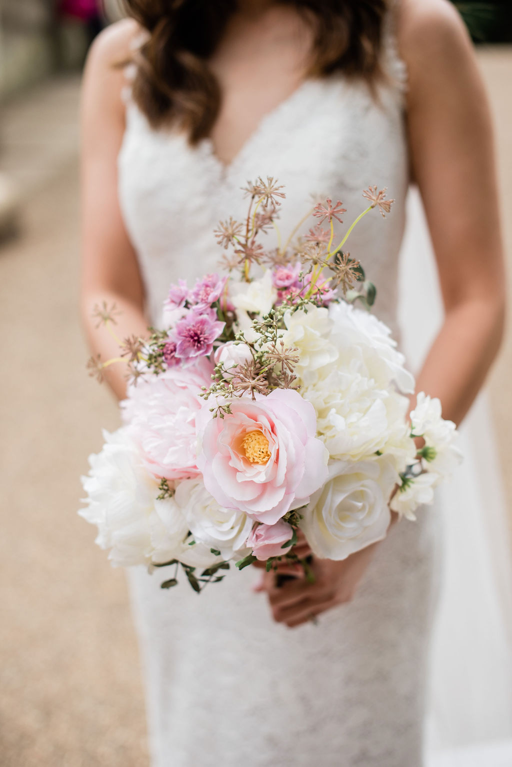 Summer bridal bouquet at Chiswick House, London