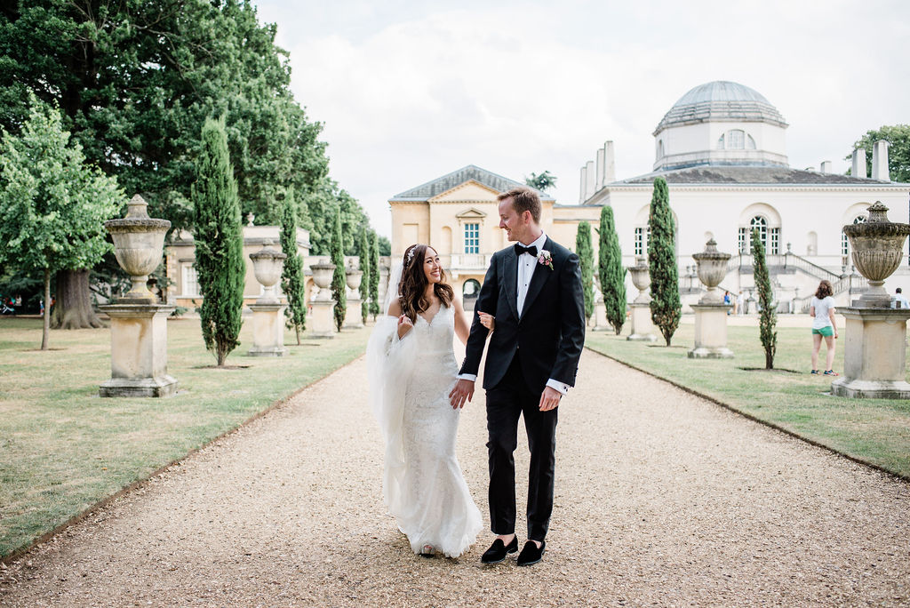 Couple portrait at Chiswick House, London | Sugar Plum Bakes