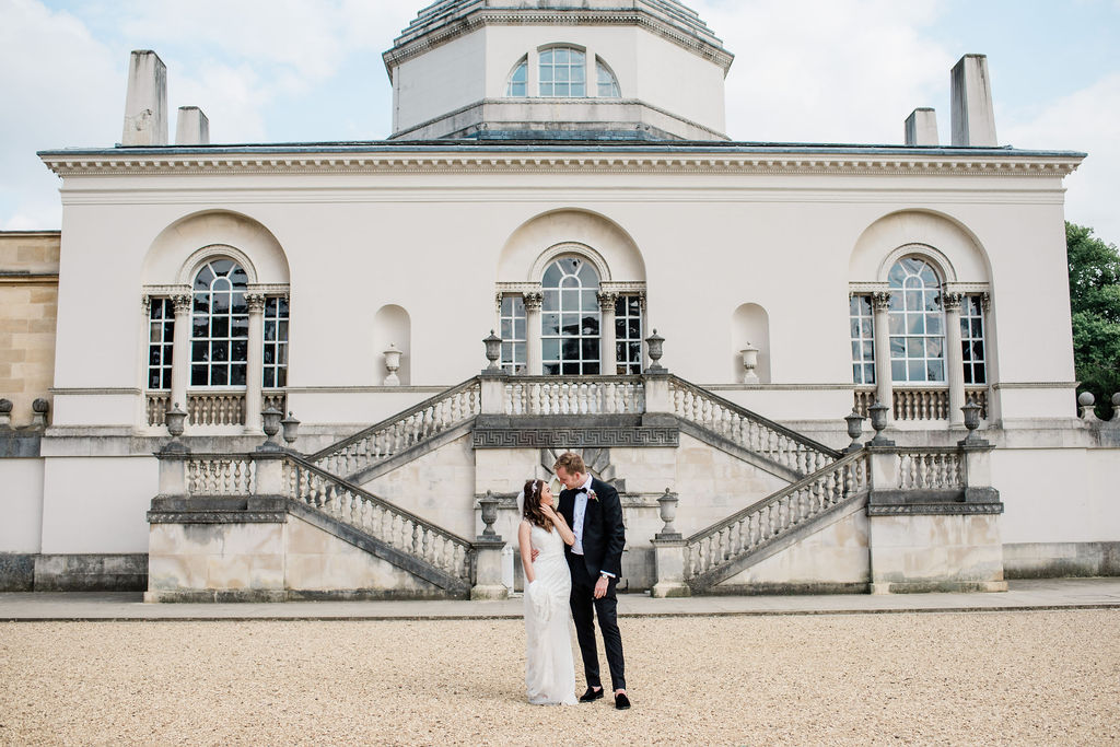 Romantic couple portrait at Chiswick House, London | Sugar Plum Bakes