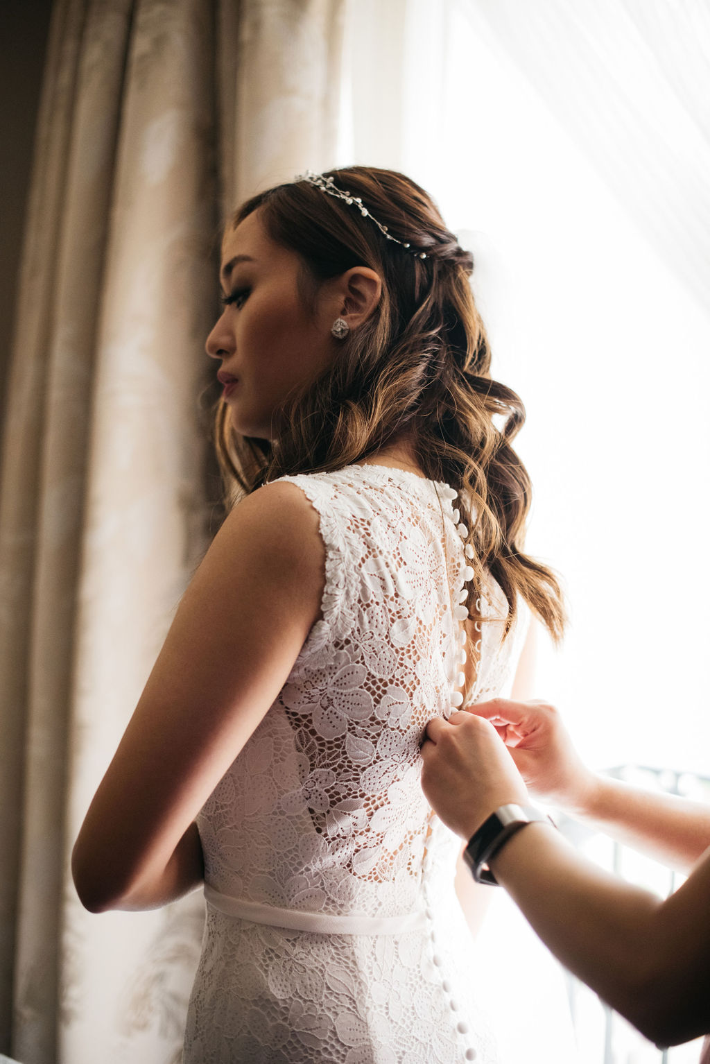 Bridal portait at Chiswick House, London | Sugar Plum Bakes