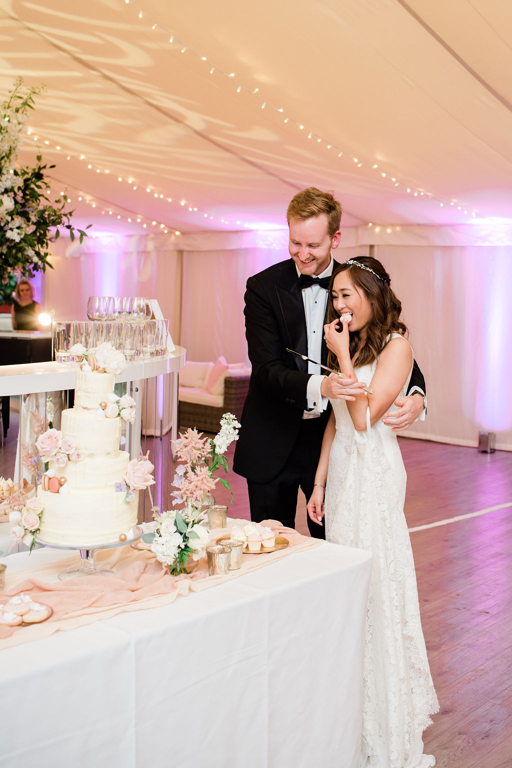 Cake cutting at Chiswick House wedding, London | Sugar Plum Bakes