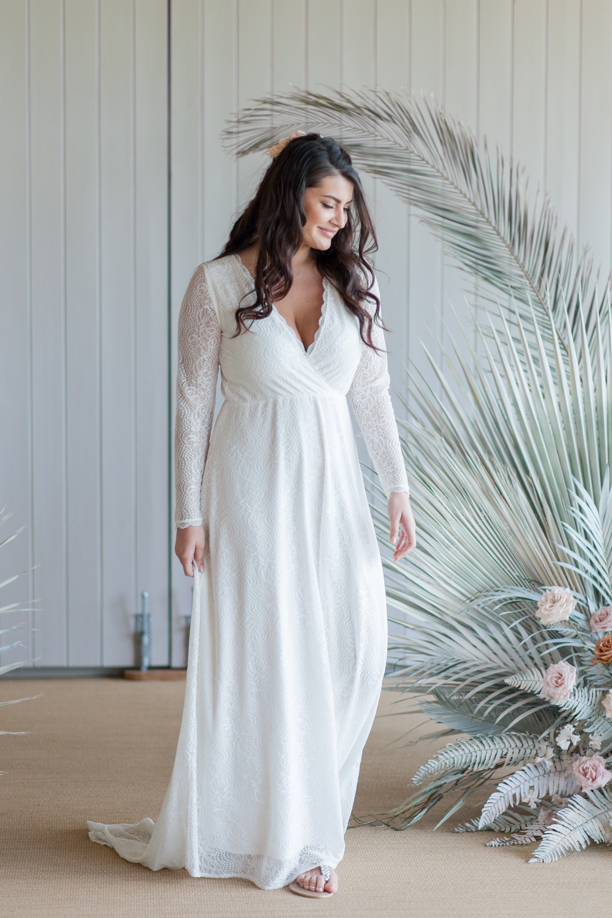 Modern, easy to wear wedding gown from Luella's Bridal