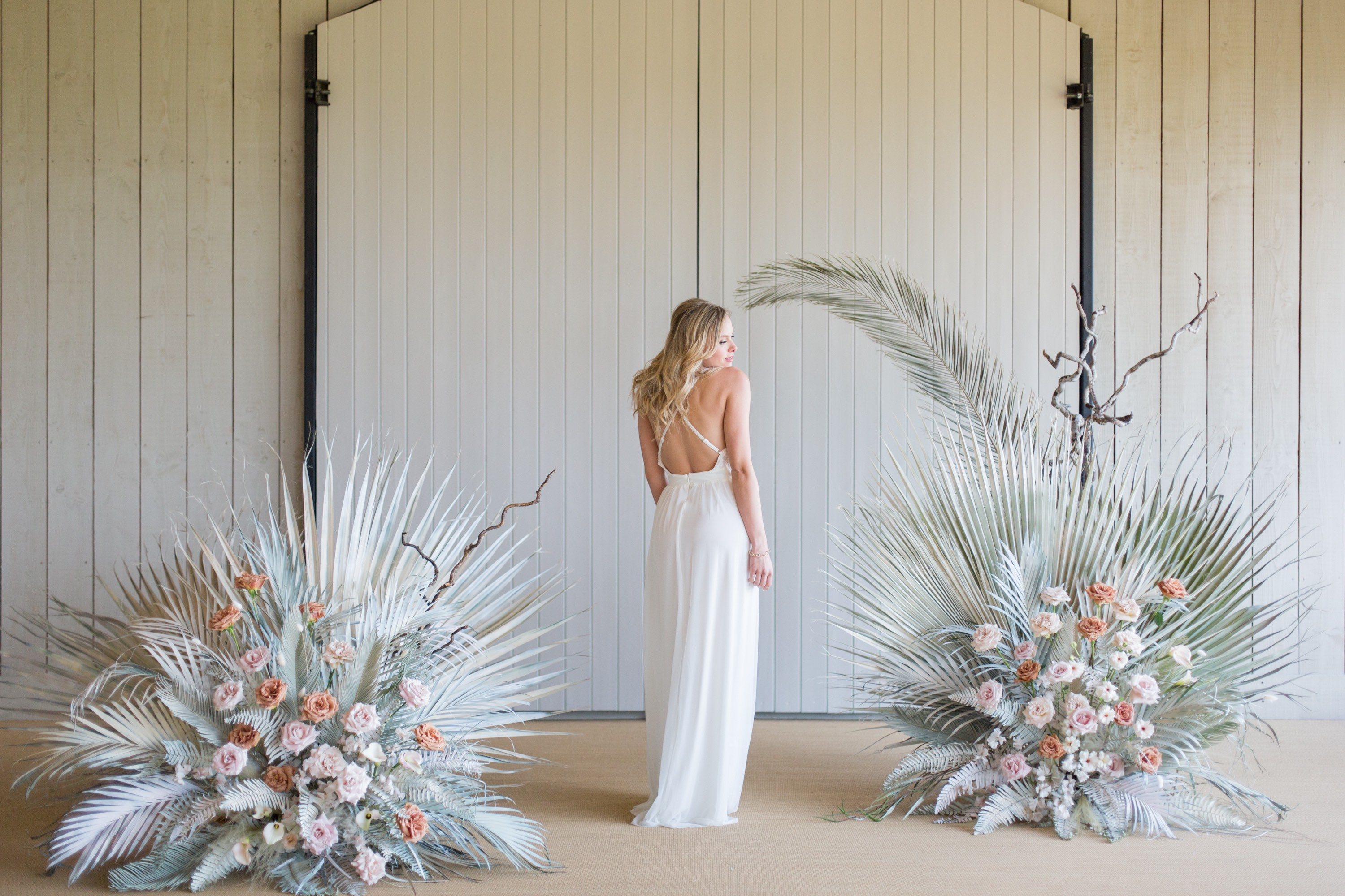 Strappy cross back wedding gown from Luella's Bridal