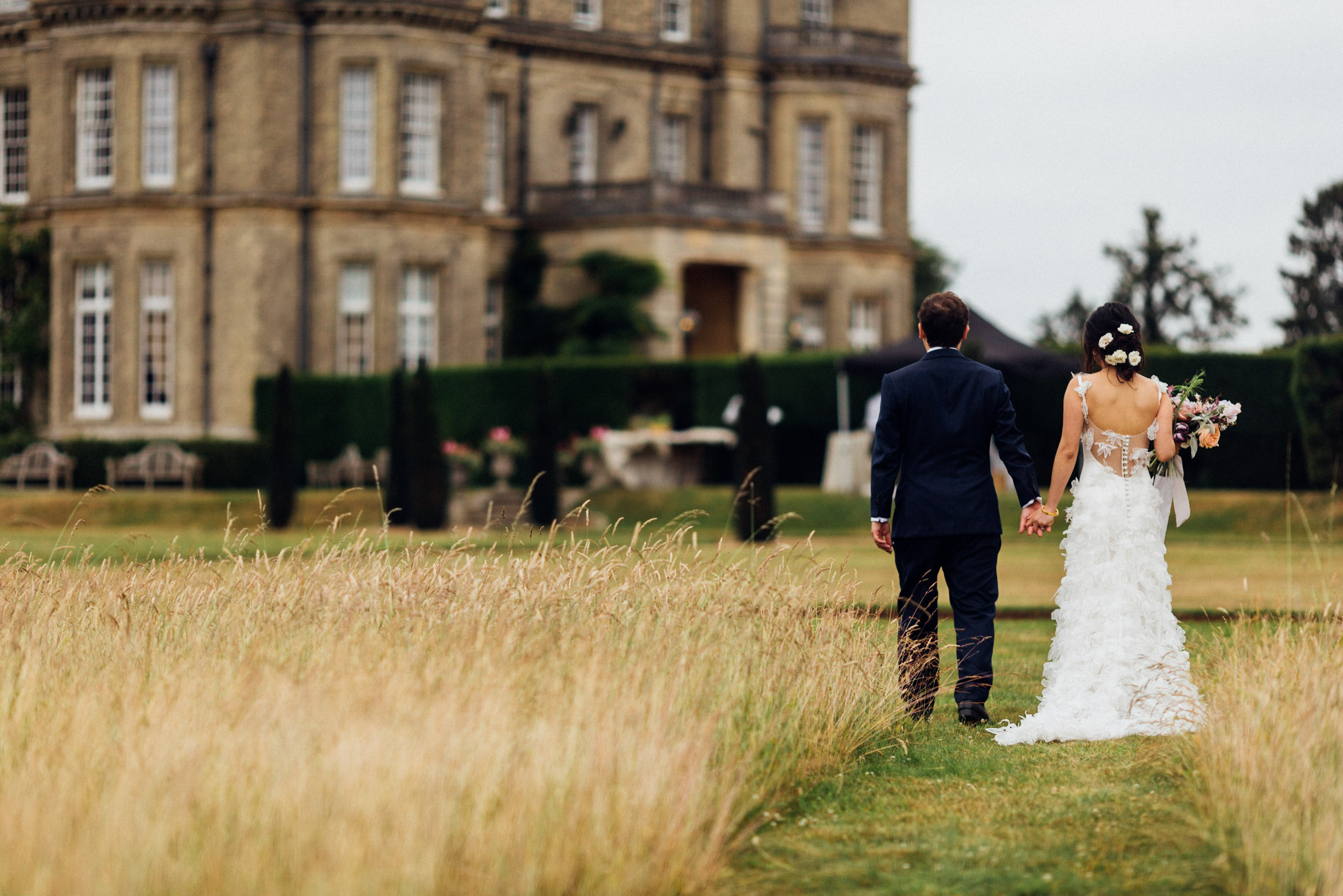 Bride and groom at Hedsor House.  Photo by Amy Rose Photography