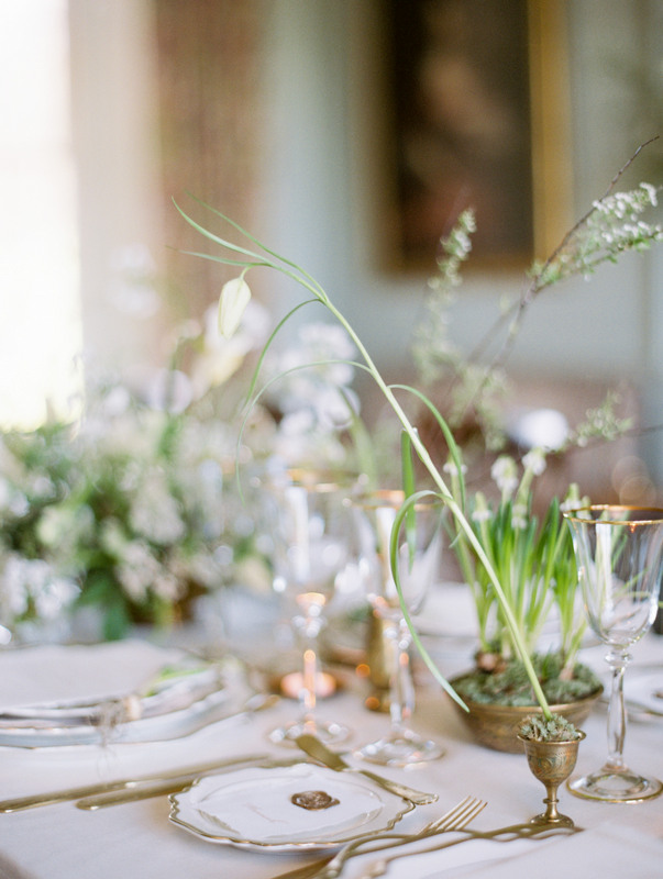 Spring Wedding Table Inspiration styled by The Timeless Stylist. Photo by Hannah Duffy