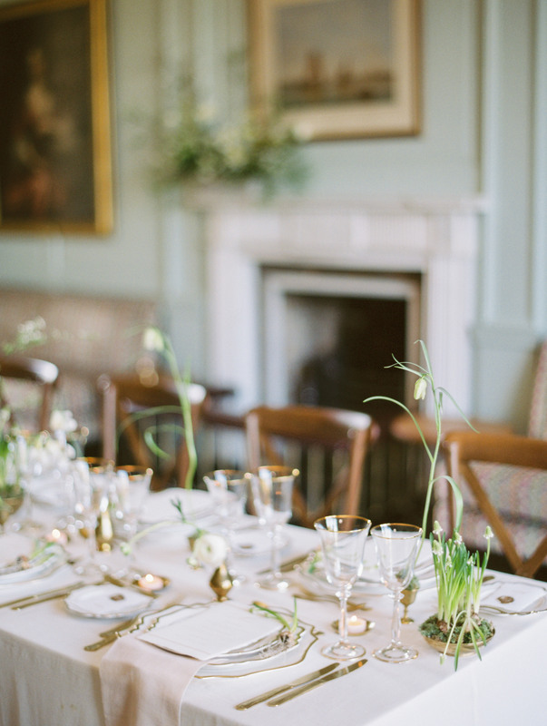 Spring Wedding Inspiration. Table styled by The Timeless Stylist, flowers by Moss & Stone, photo by Hannah Duffy
