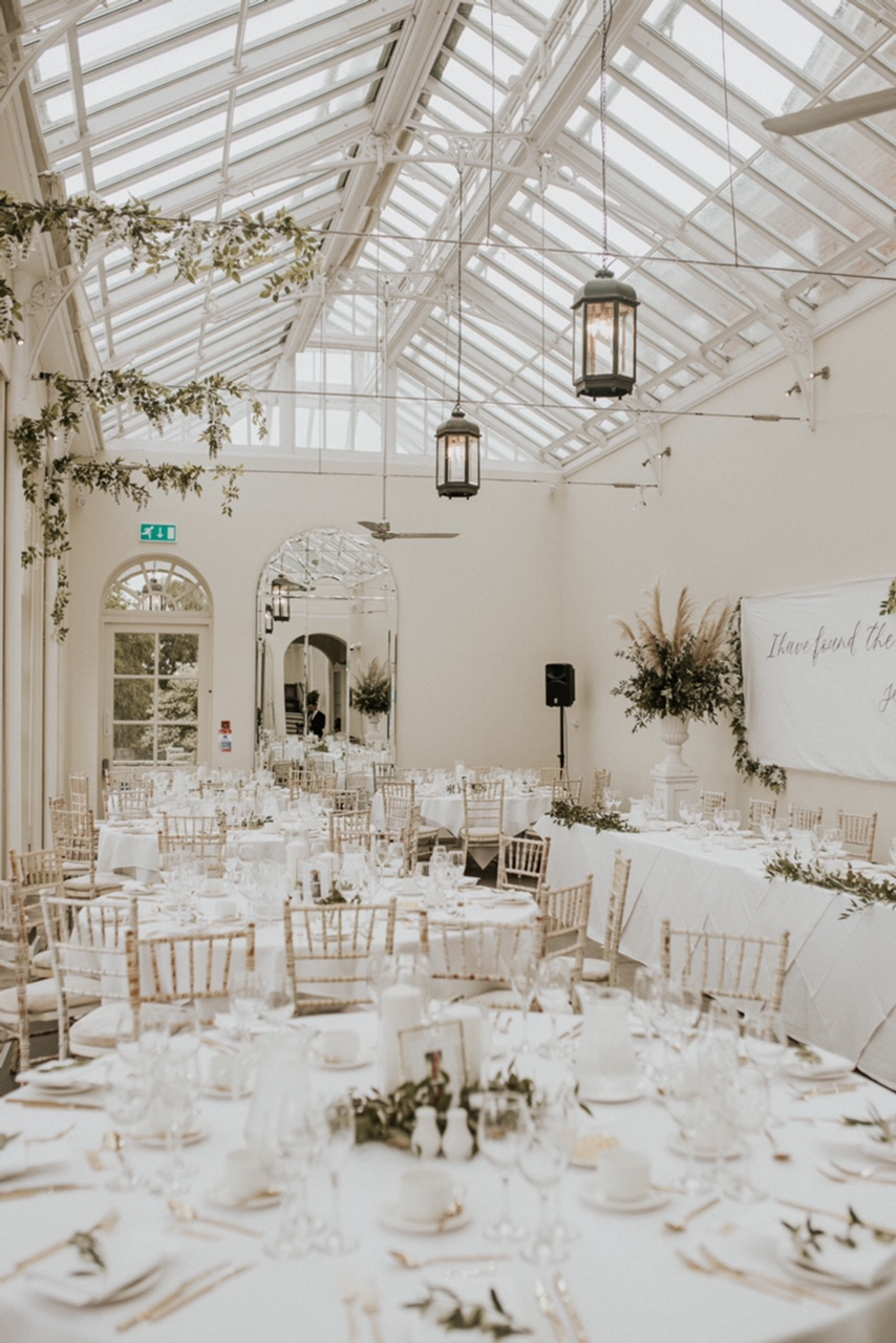 Wedding reception at Buxted Park Hotel, Sussex. Photo by Nataly J Photography