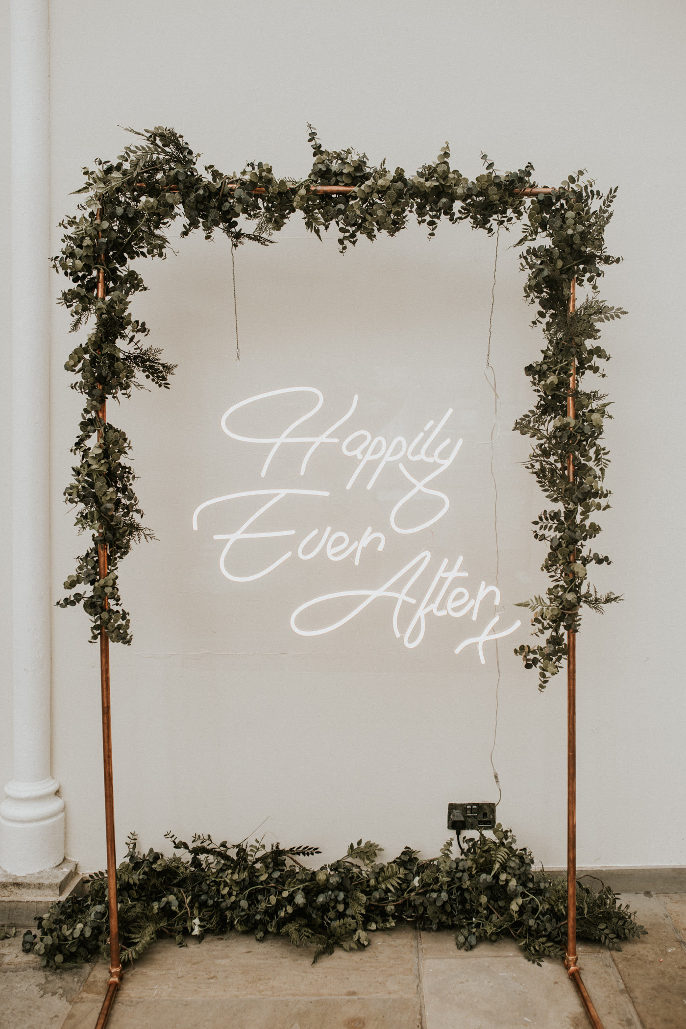Neon sign at Buxted Park Hotel wedding